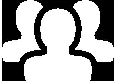 White icon of profiles.