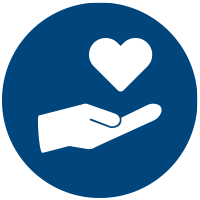 Hand holding a heart icon.